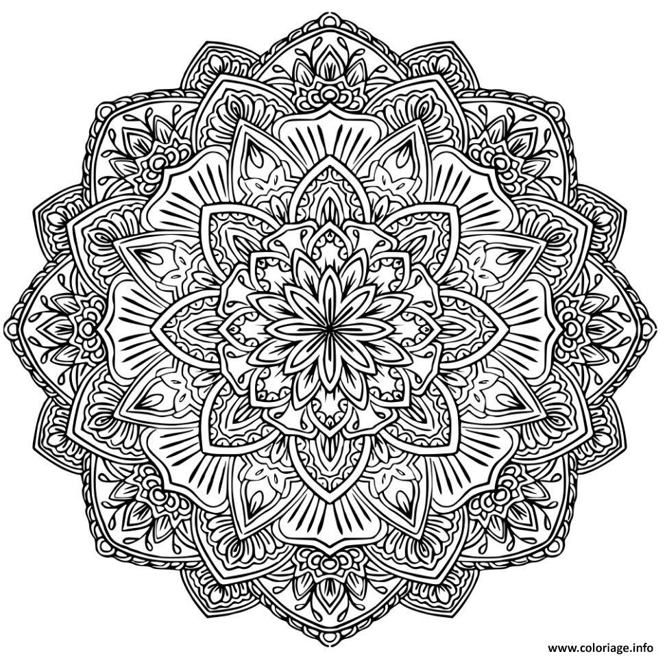 Coloriage mandala adulte 2017