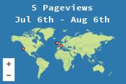 Ubicaciones de los visitantes a esta página