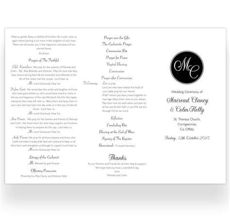 Tri fold Wedding Ceremony Booklet Sample   Loving Invitations