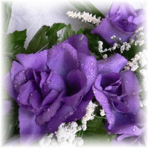 PURPLE Rose Swag Wedding Arch Silk Centerpiece Flowers