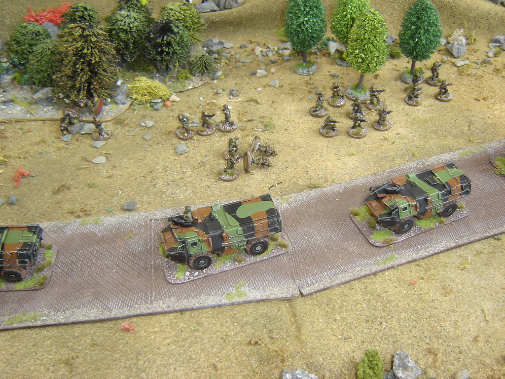 French withdraw towards cover in good order