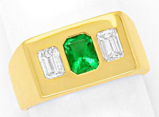 Original-Foto 2, DIAMANTRING SENSATIONS-SMARAGD, 0,8ct DIAMANTEN SCHMUCK