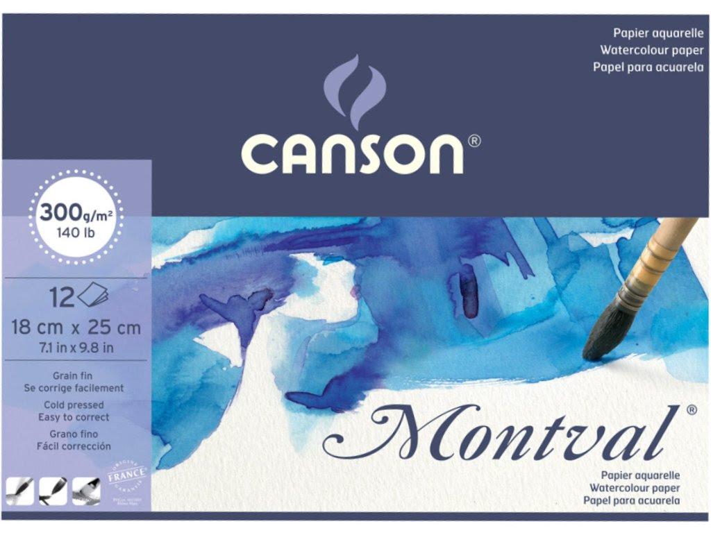Canson Montval Sulu Boya Defteri A5 300gr 12 Sayfa