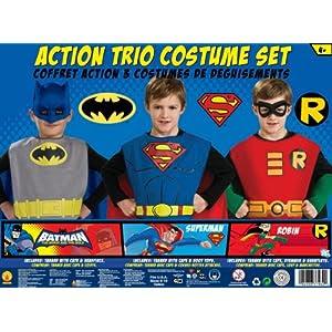 DC Comics Boys Trio Action Set Dress Up Trunk