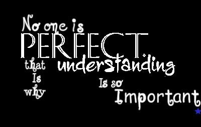 No One Is Perfect That Is Why Understanding Is So Important