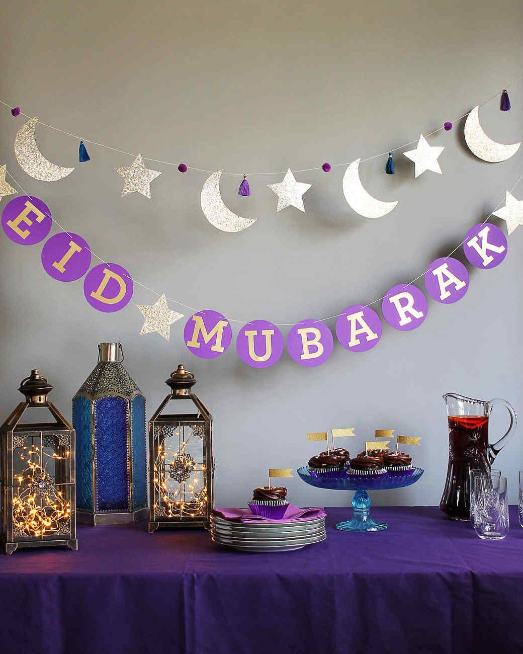Eid  Mubarak Circle Garland Martha Stewart