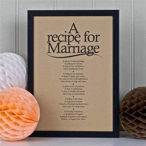 Personalised Marriage Print With Marriage Poem   Marriage