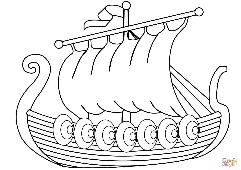 Dibujo De Barco Vikingo Para Colorear Dibujos Para Colorear