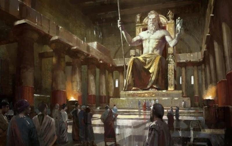 Статуя Зевса в Олимпии (Олимпия, Греция) — Будда Весеннего Храма (провинция Хэнань, Китай). интересное, история, монументы, чудеса света