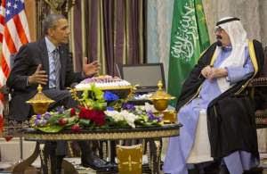 אובמה ומלך סעודיה