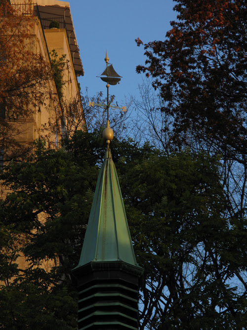 weather vane in Central Park, NYC