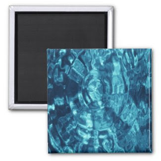 Blue Abstract Refrigerator Magnets