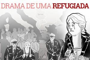 Professora síria relata naufrágio, prisão, fome e discriminação (Editoria de Arte/G1)