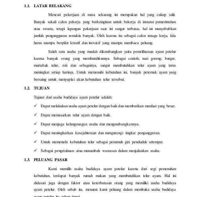 Contoh Business Plan Tugas Kewirausahaan Contoh Yi