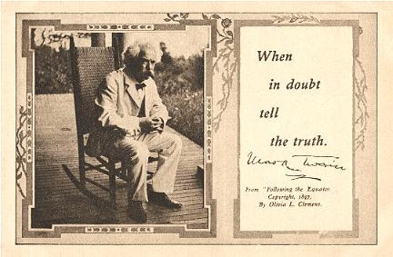 Mark Twain Quotations Truth