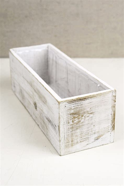 White 4x12 Wood Planter Boxes