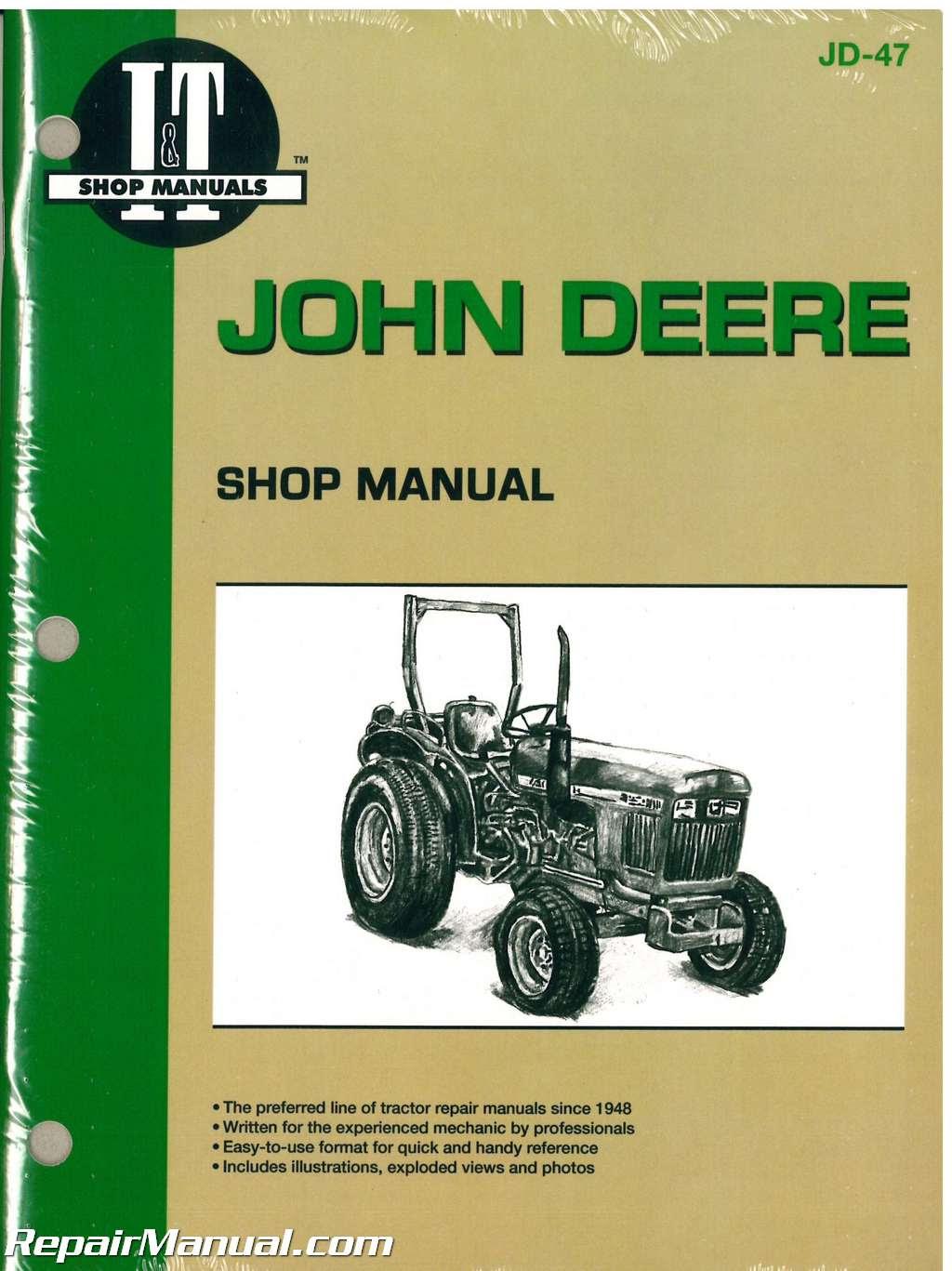 John Deere 850 950 1050 Tractor Workshop Manual : JD-47 | eBay