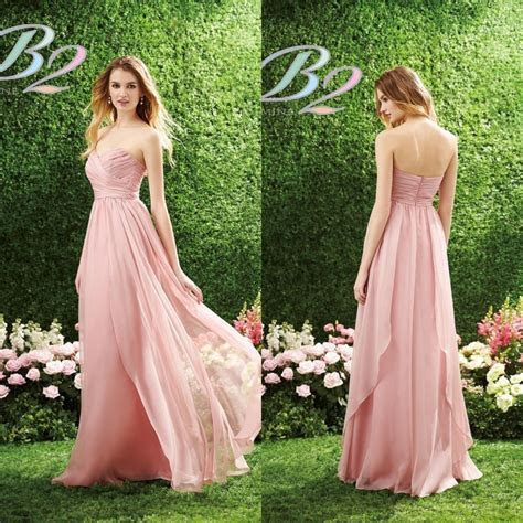 2015 Long Pink Bridesmaid Dress B2 by Jasmine Sweetheart