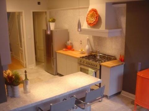 Modernas y sofisticadas cocinas en color naranja-19