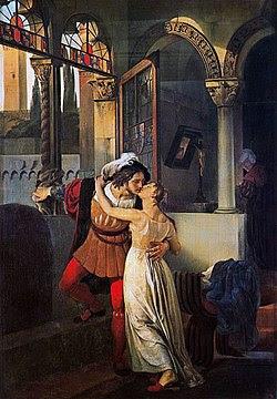 Romeo e Giulietta di Francesco Hayez