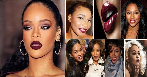 Rouge à Lèvres Bordeaux Peau Noire Métisse Afroculturenet