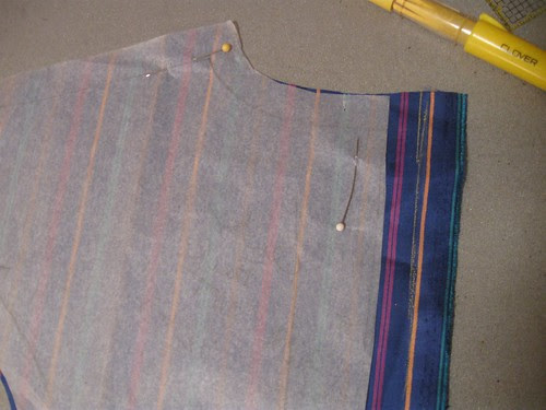 Blu coat  lining pleat