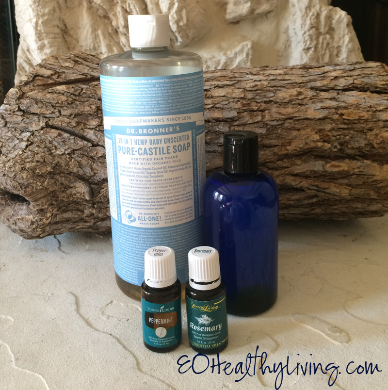 Simple Homemade Shampoo made with Young Living essential oils