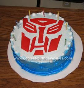 Transformer Birthday Cake Photo The Best Cake Of 2018