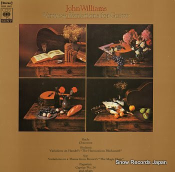 WILLIAMS, JOHN virtuoso variations for guitar
