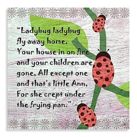 Buy Green Leaf Art Ladybug Poem Canvas Art from Bed Bath