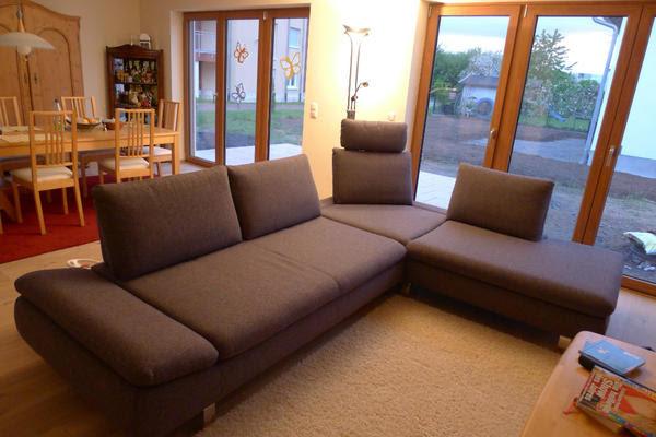 Couch 2.98x222m, Sitztiefe verstellbar, 2 Steckrücken ...