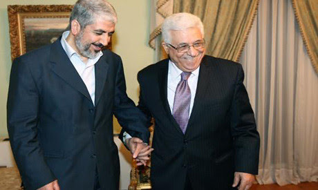 Khaled Mershaal of Hamas and Mahmoud Abbas of Fatah. The reconciliation process is continuing between the two Palestinian parties. by Pan-African News Wire File Photos
