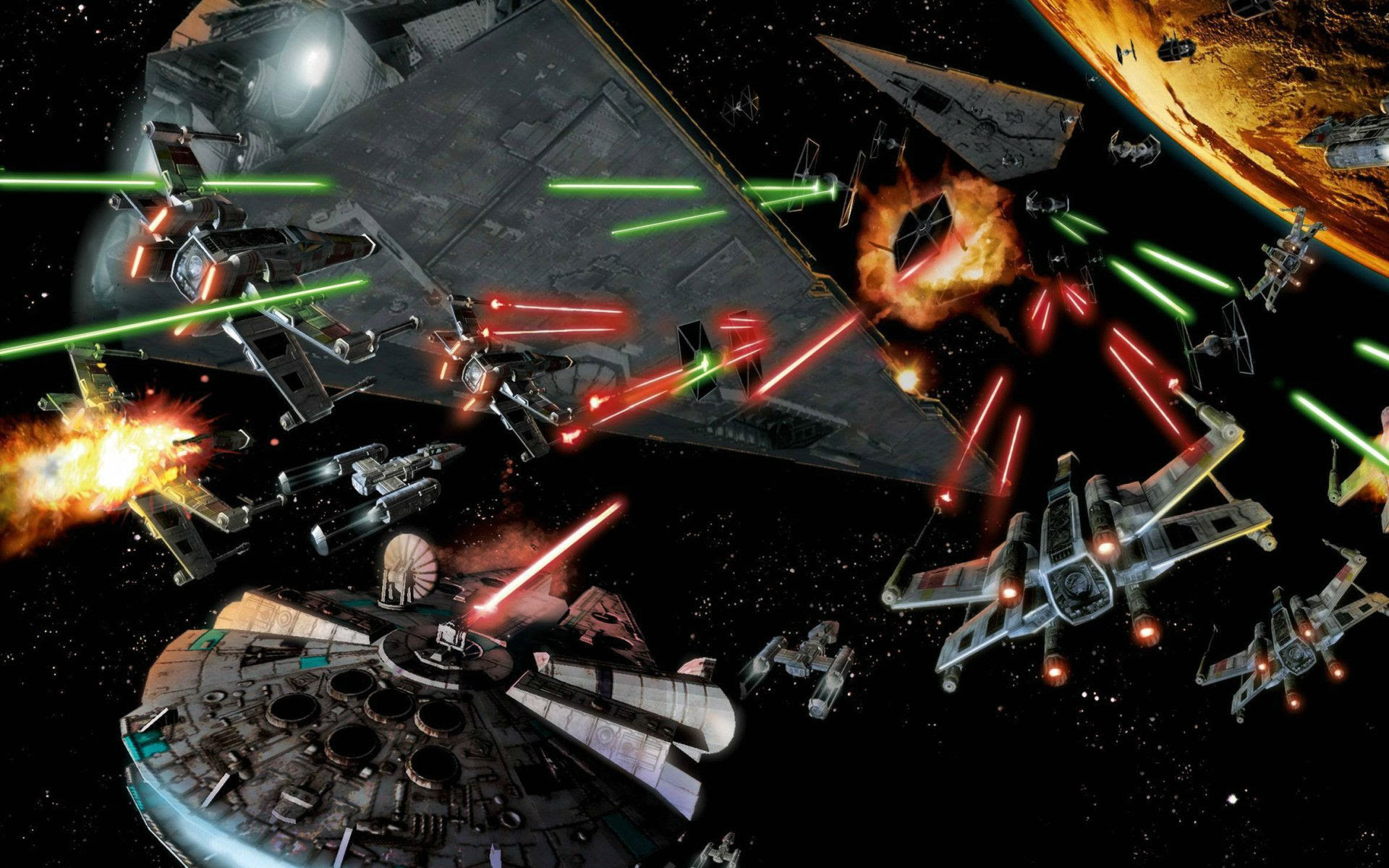 Star Wars Space Battle Wallpaper 61 Images