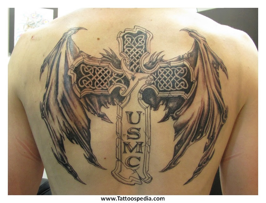 Cross Tattoos Angel Wings 4