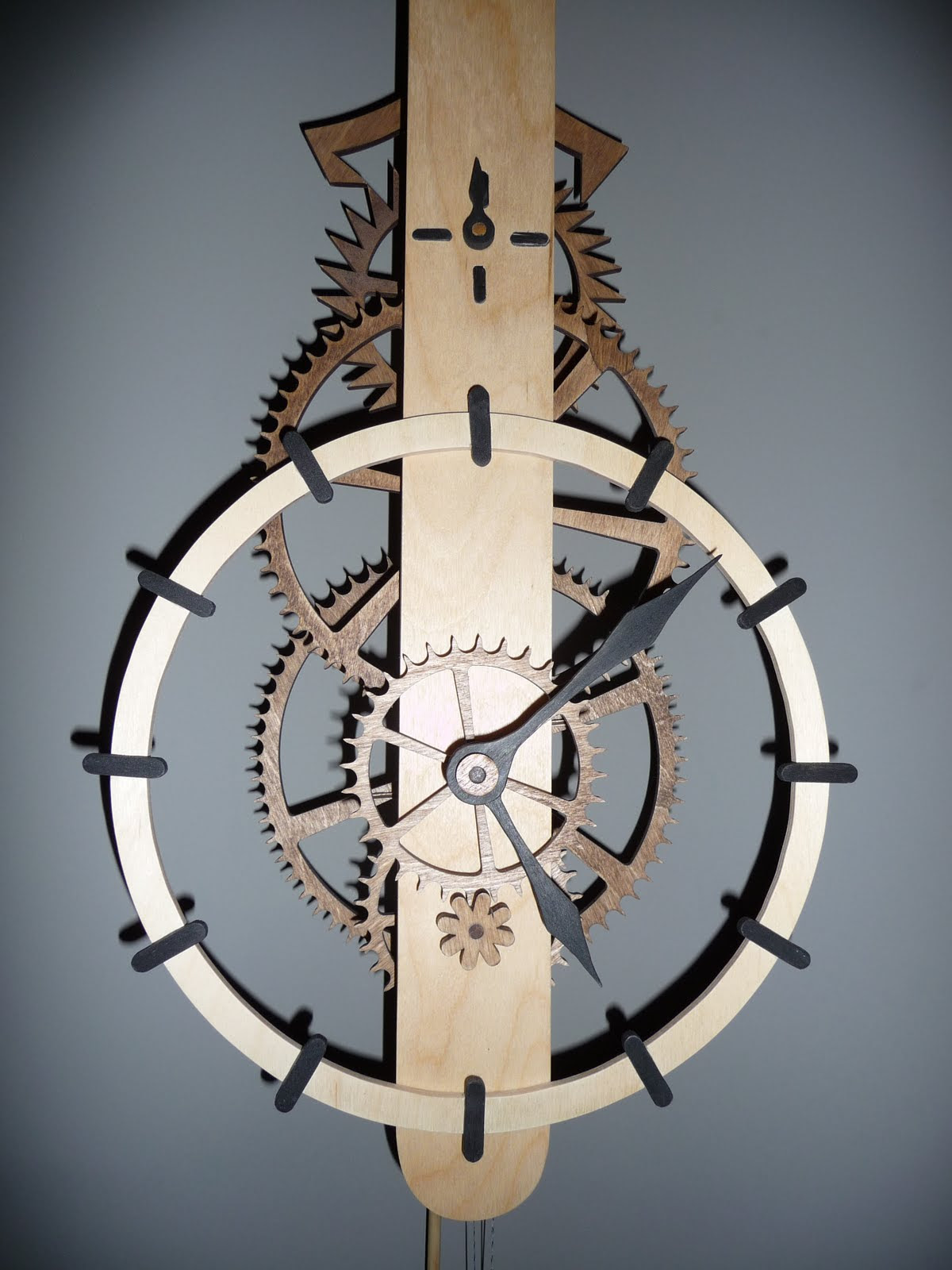 Wooden Gear Clock Plans Free Home Design
