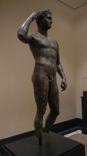 DSCN7522 _ Victorious Youth, Greek, 300-100 B.C., Getty Villa, July 2013