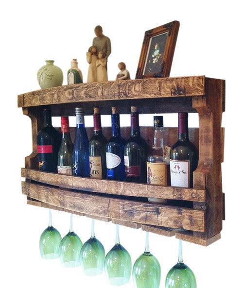 Hand Made Napa Valley Reclaimed Wine Barrel Wine Rack Bushel