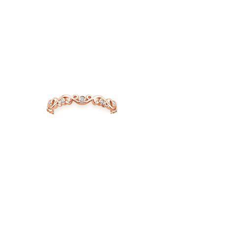 Petite Ivy Scroll Diamond Ring in 14K Rose Gold