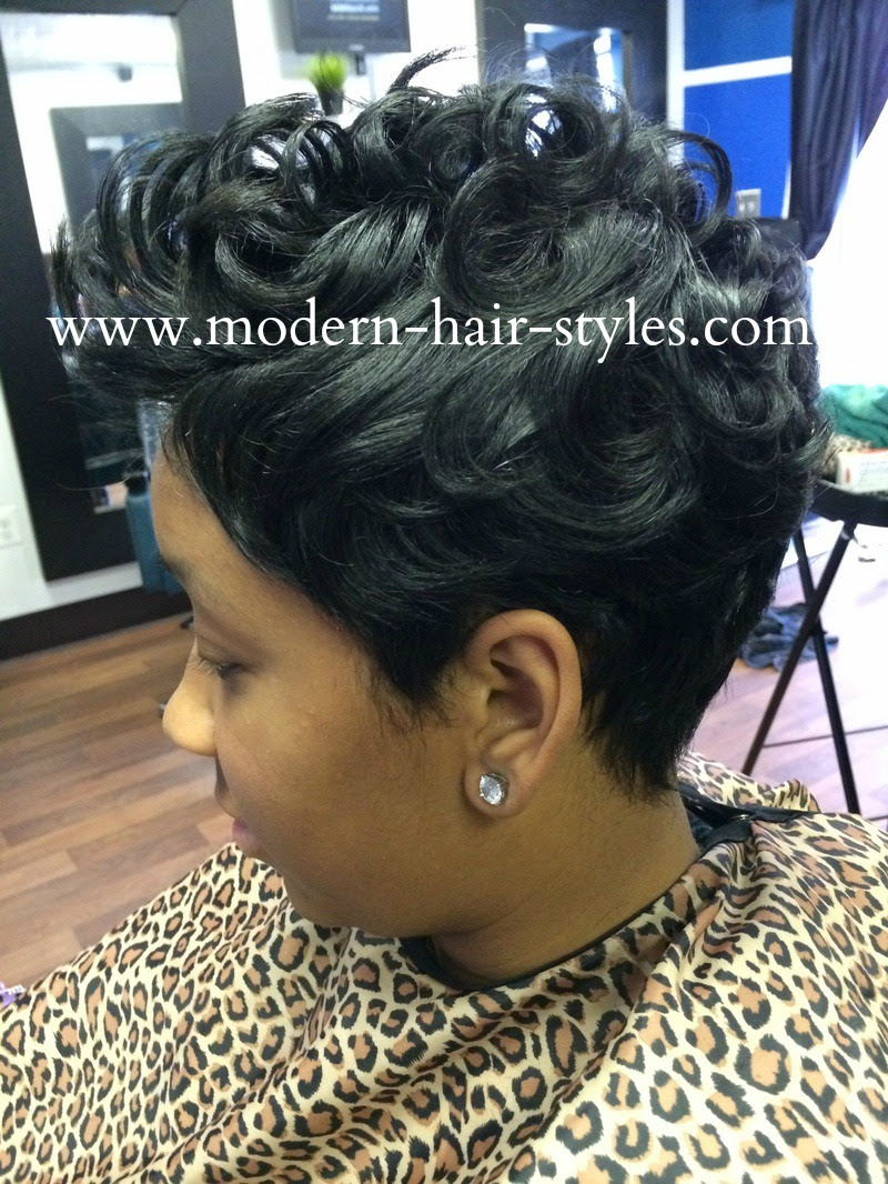 Black Hair Hairstyles Of Short Razor Cuts Quick Weaves And More