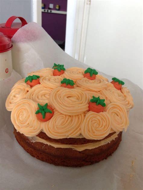 Carrot cake decoration idea   cake decorating   Pinterest