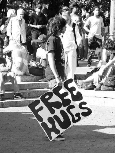 Free hugs, NYC