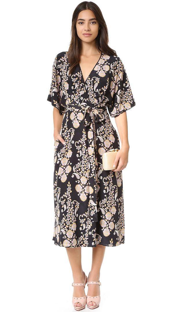 Cynthia Rowley Ornate Wrap Dress