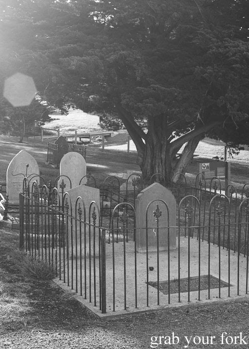 Graves at Reeves Point Cemetery, the oldest cemetery in South Australia