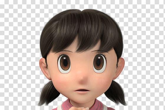 Doraemon Nobita Shizuka Shizuka 3d Head Png