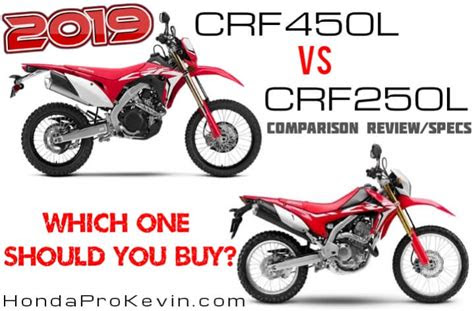 honda crfl  crfl comparison review specs