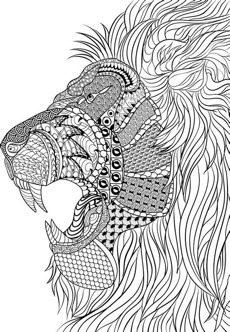 coloring pages  adults difficult animals  coloring