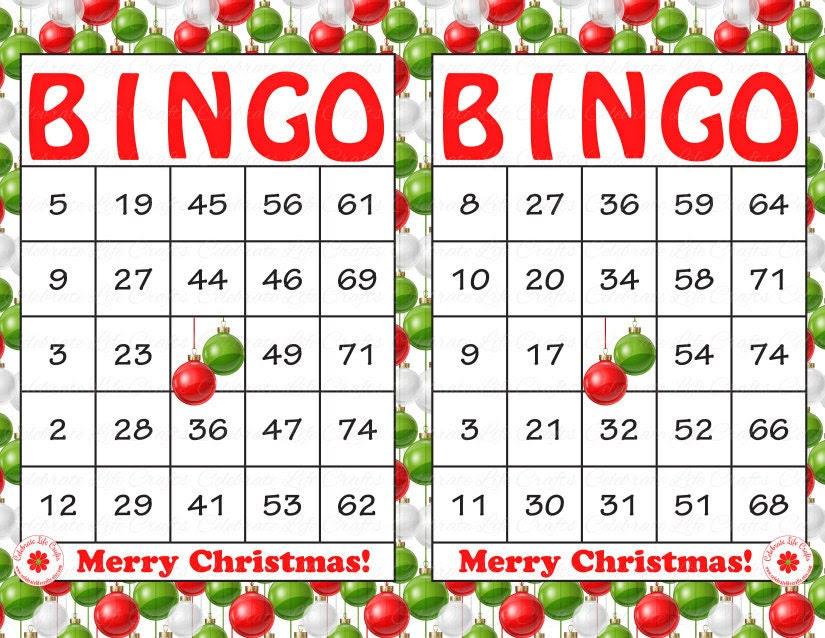Image Gallery of Free Christmas Bingo Free Printable