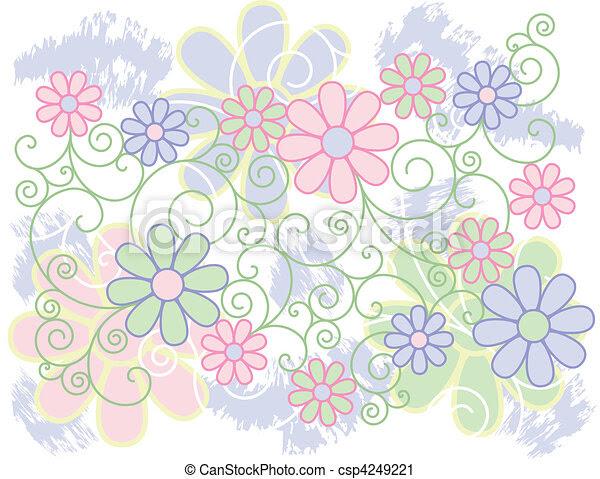 Ilustraciones Vectoriales De Blanco Flores
