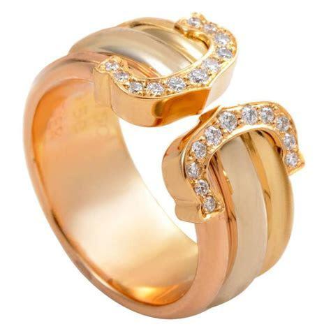 Cartier Logo de Cartier Diamond Gold Band Ring at 1stdibs