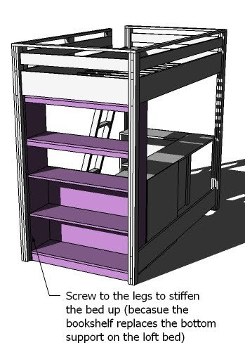 Ana White | Build a What Goes Under the Loft Bed? How About a BIG ...
